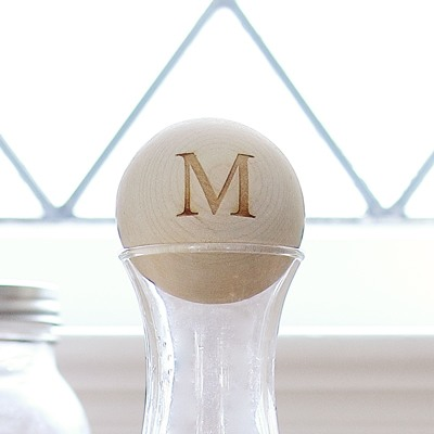 Personalized Wood Stopper