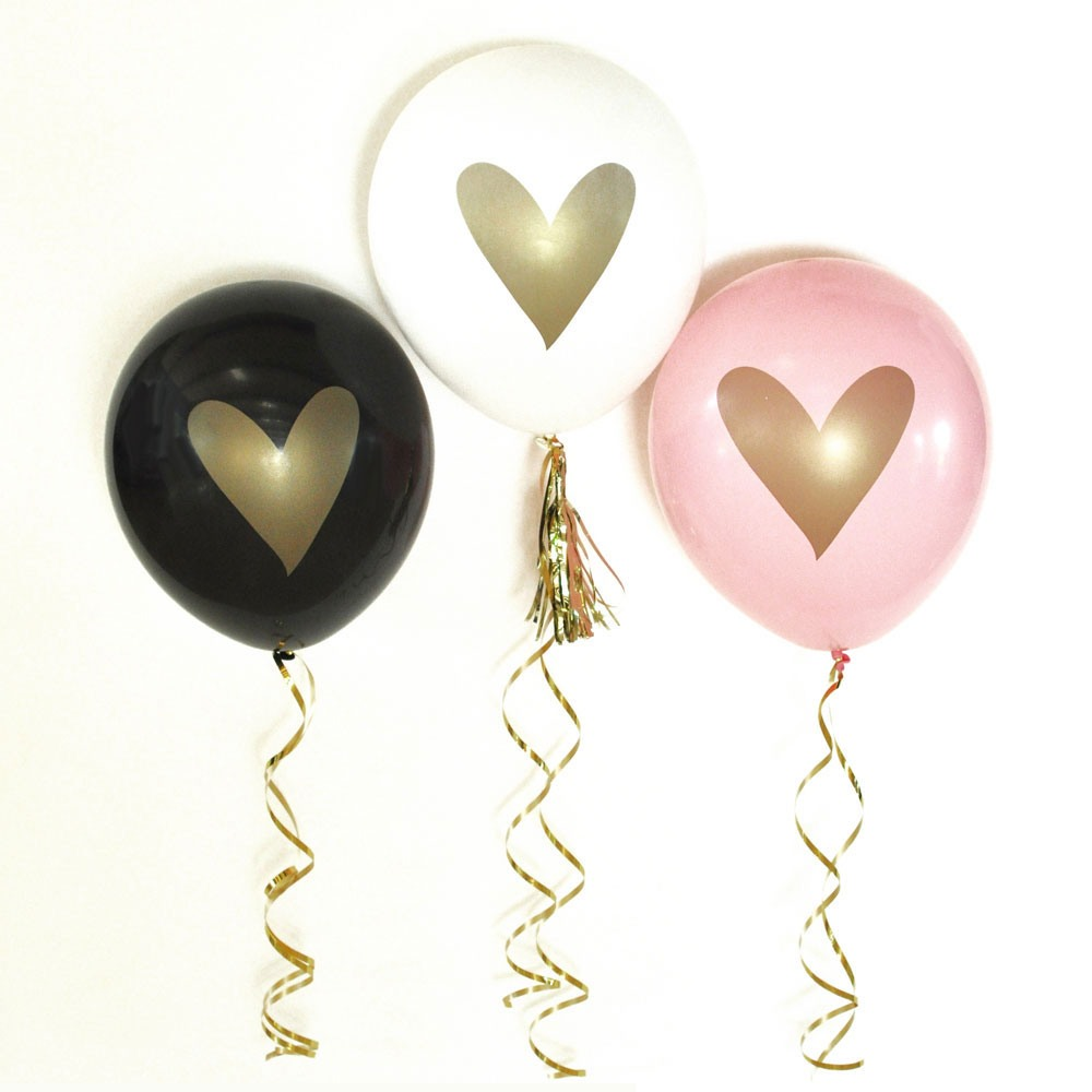 Gold Heart Party Balloons 8885