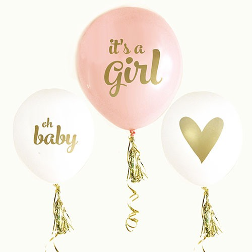 It's a Girl Baby Shower Balloons