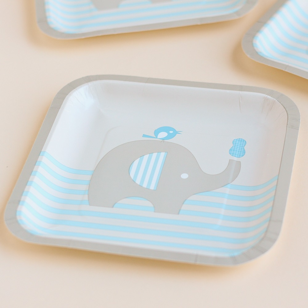Little Peanut Party Plates in Blue