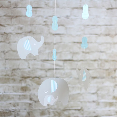 Little Peanut Hanging Decorations in Blue
