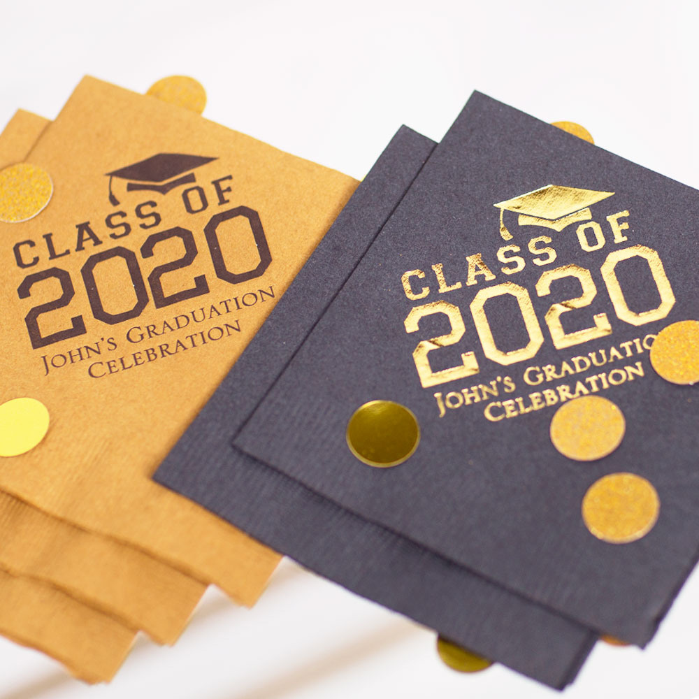 Personalized Class of Exclusive Party Napkins