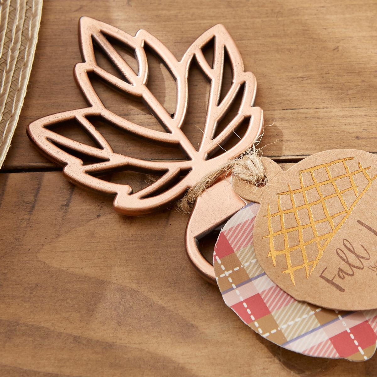 copper leaf bottle opener