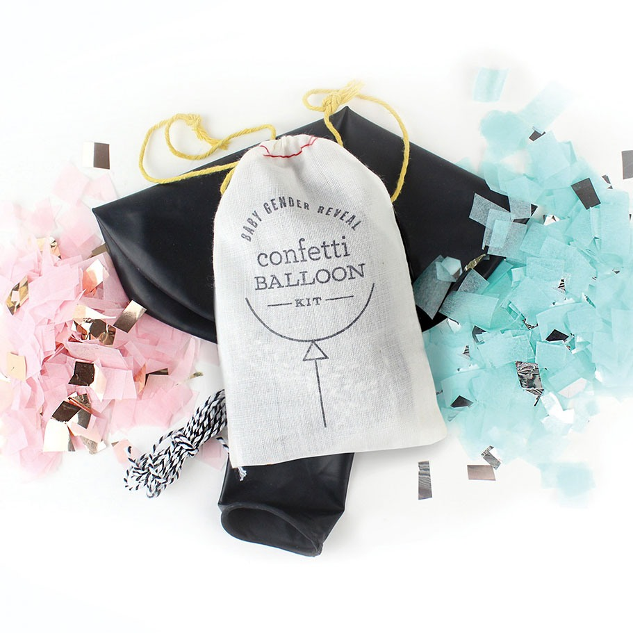 Jumbo Gender Reveal Confetti Balloon Kit 9170