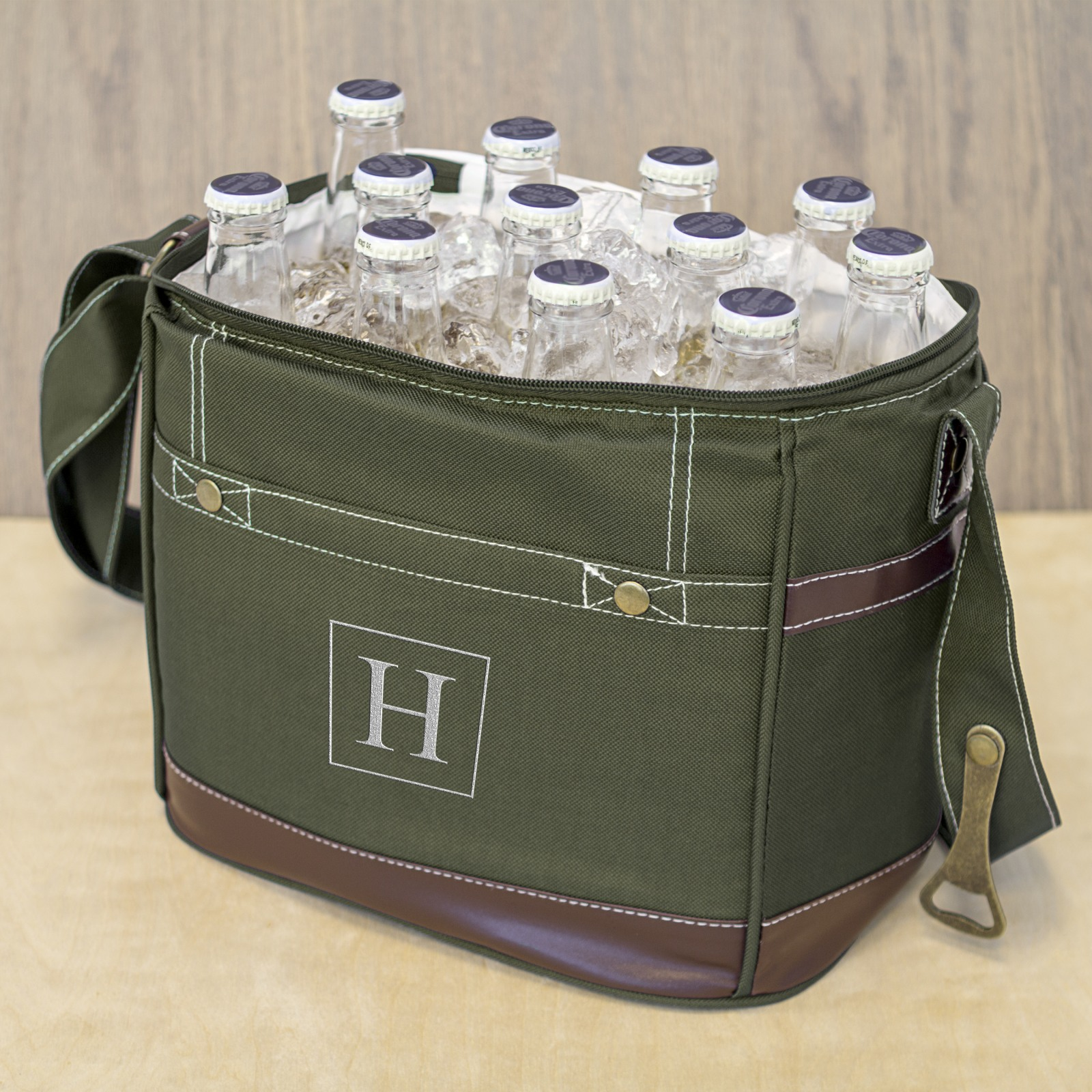 personalized 12 pack beer bottle cooler