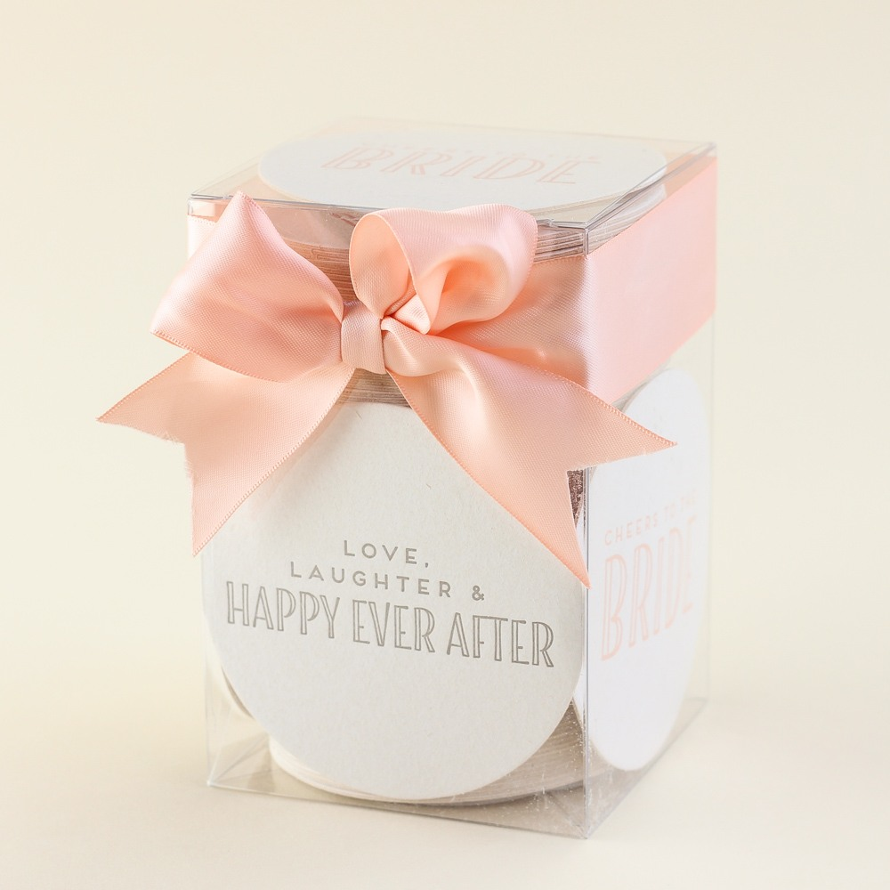 Letterpressed Bride Coasters 9190