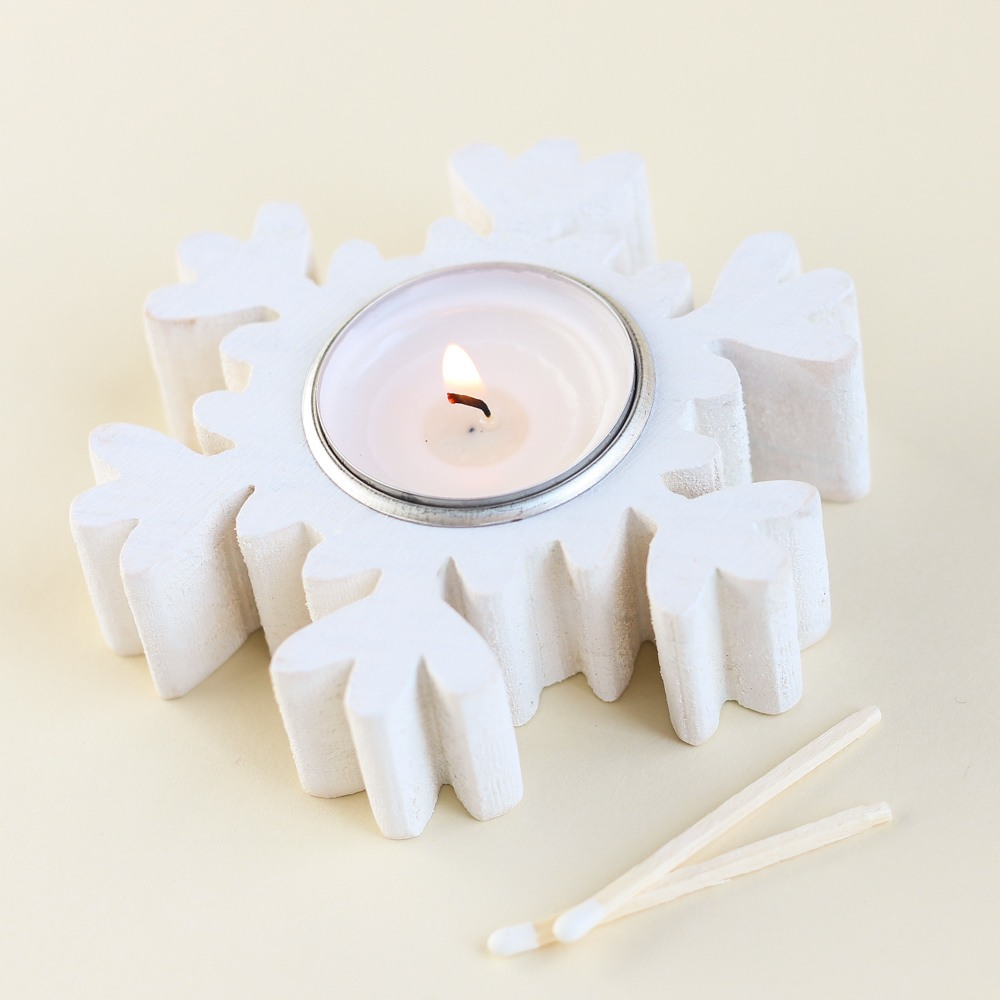 Snowflake Tealight Holder 9288