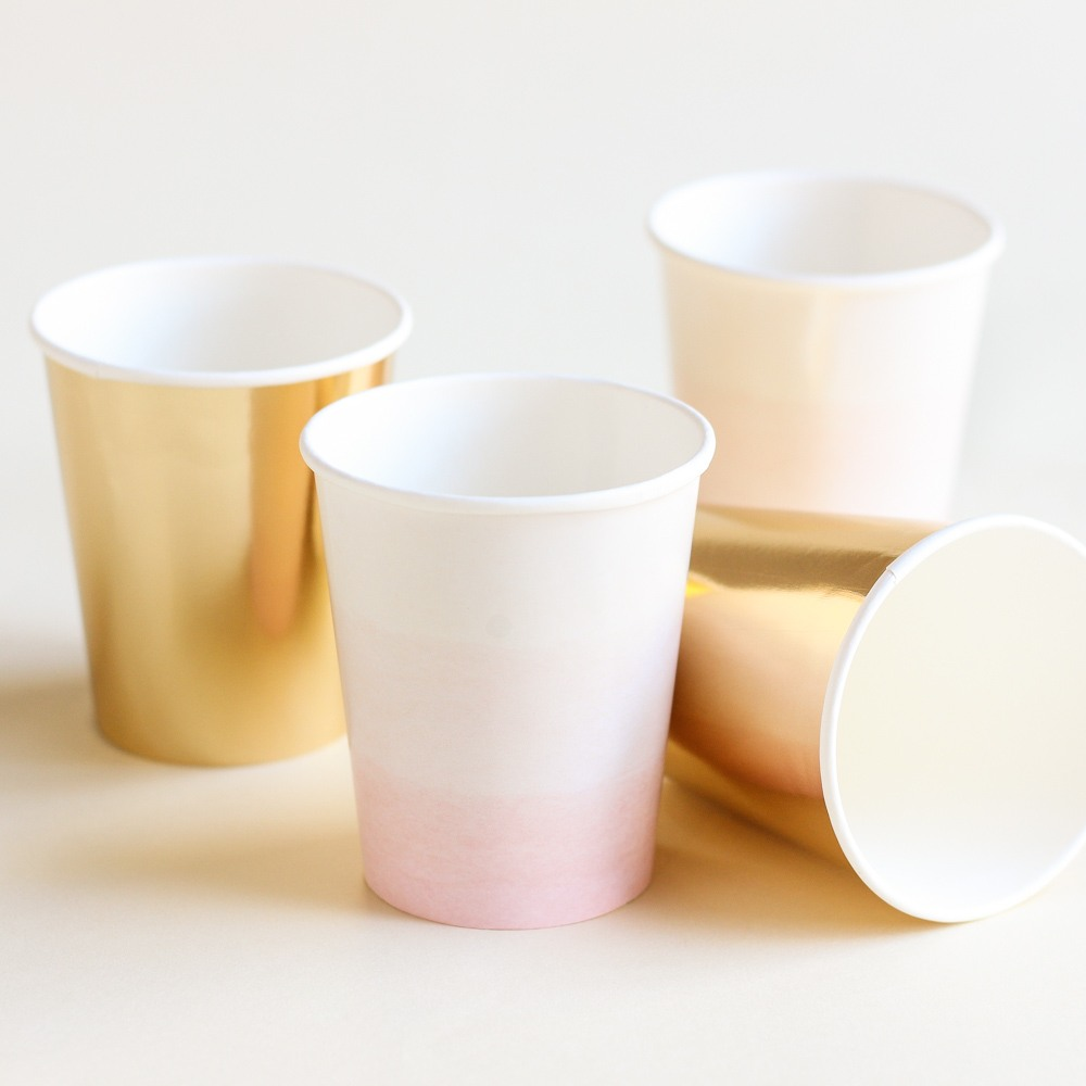 We Heart Pink Paper Cups 9293