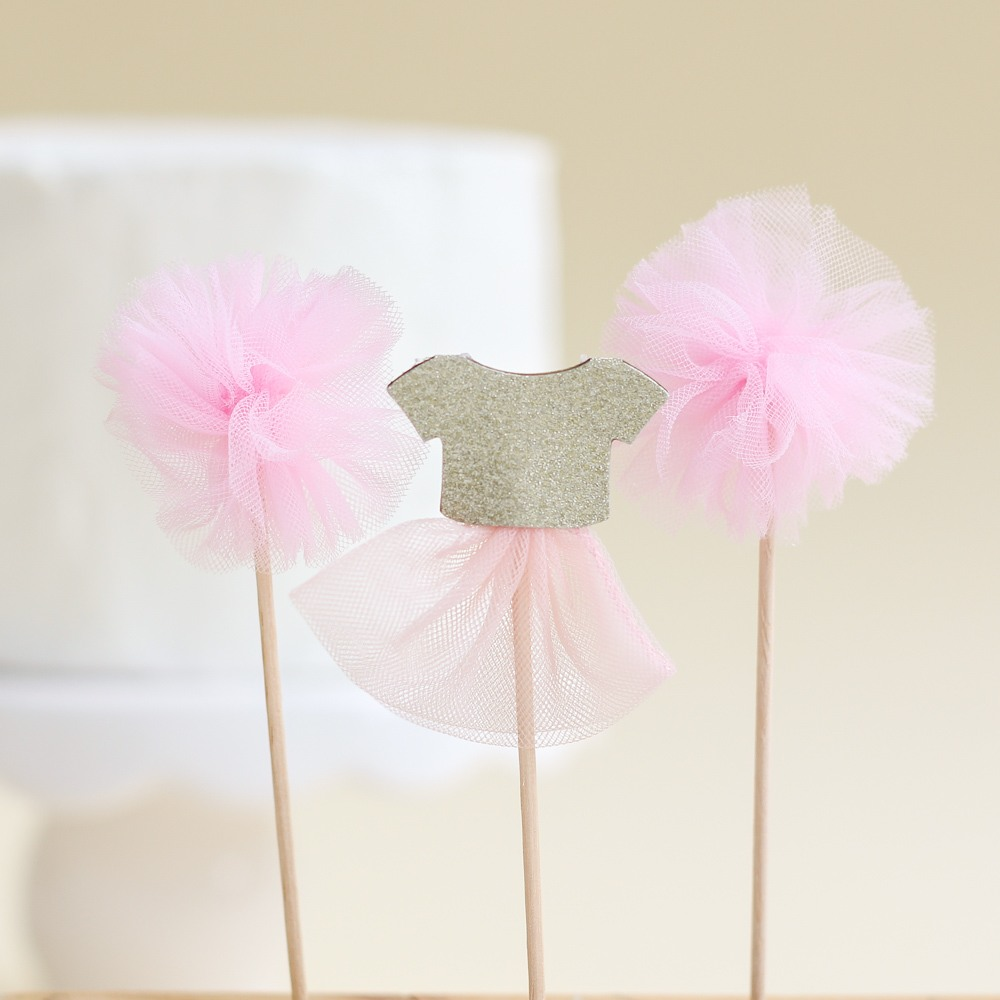 We Heart Pink Cake Toppers 9295