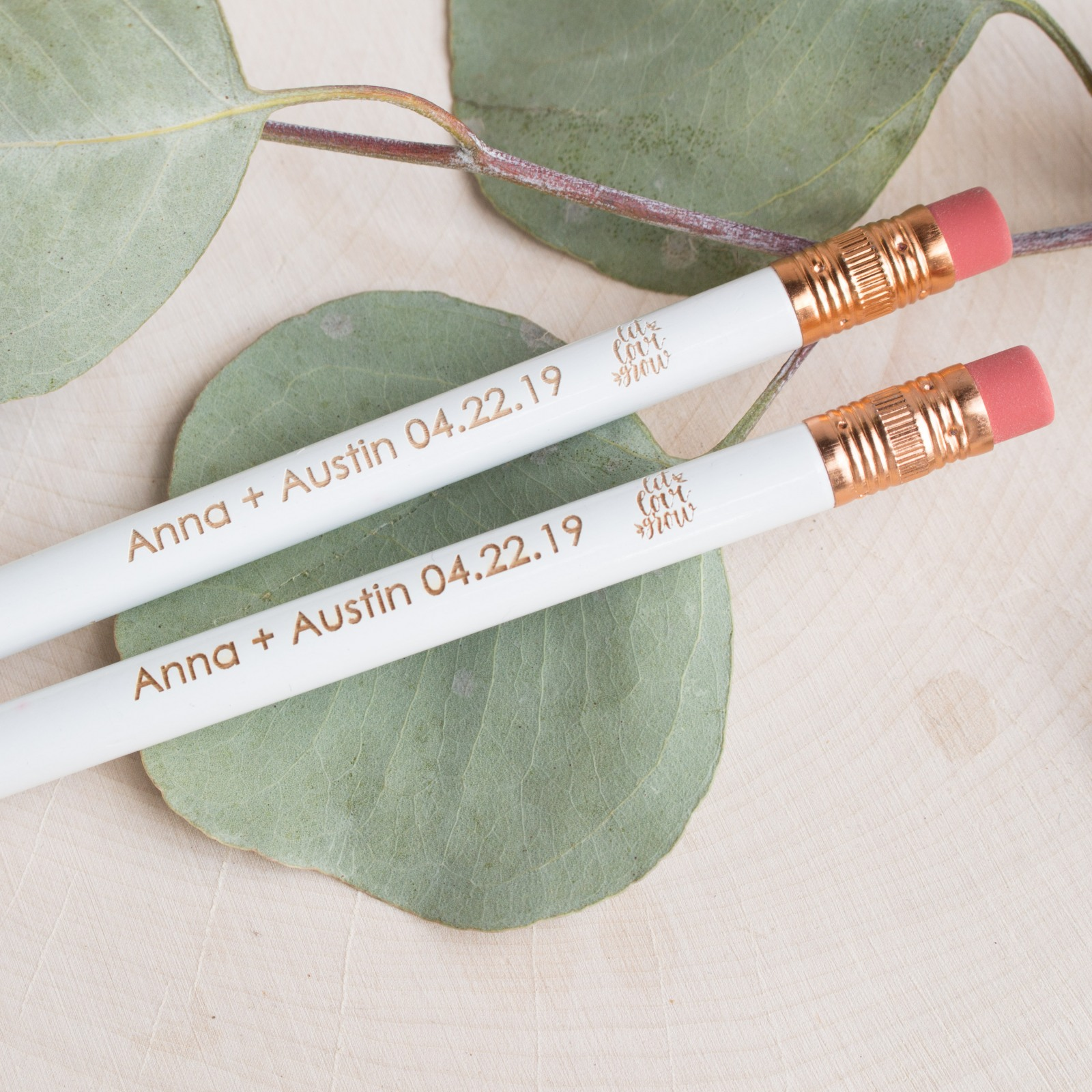 Personalized Wedding Pencils 9342