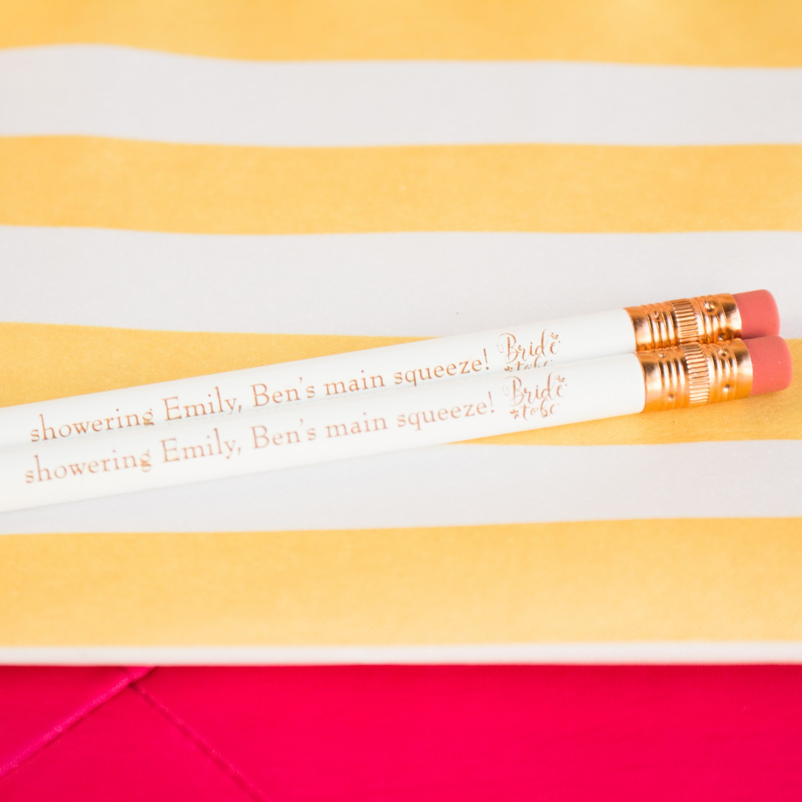 Personalized Bride to Be Wedding Pencils