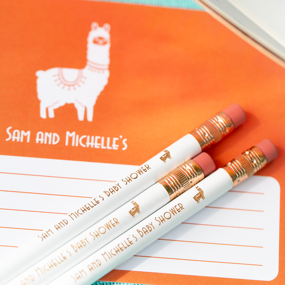 Personalized Fiesta Baby Shower Pencils