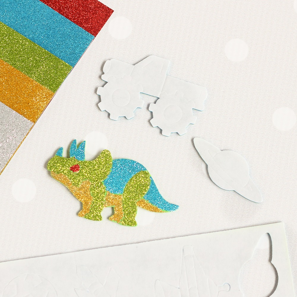 Mess Free Glitter Adventure Foam Stickers 9485