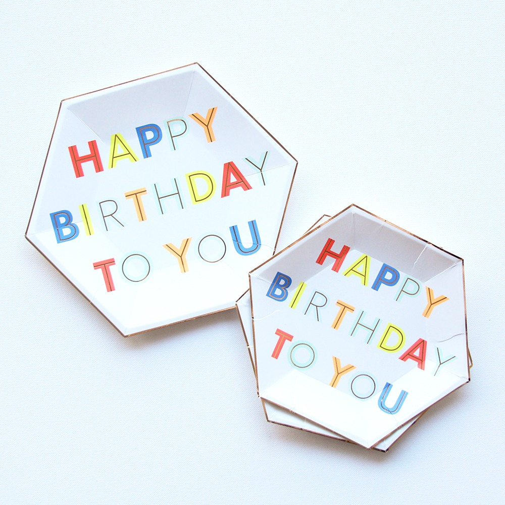 Neon Birthday Party Plates 9559