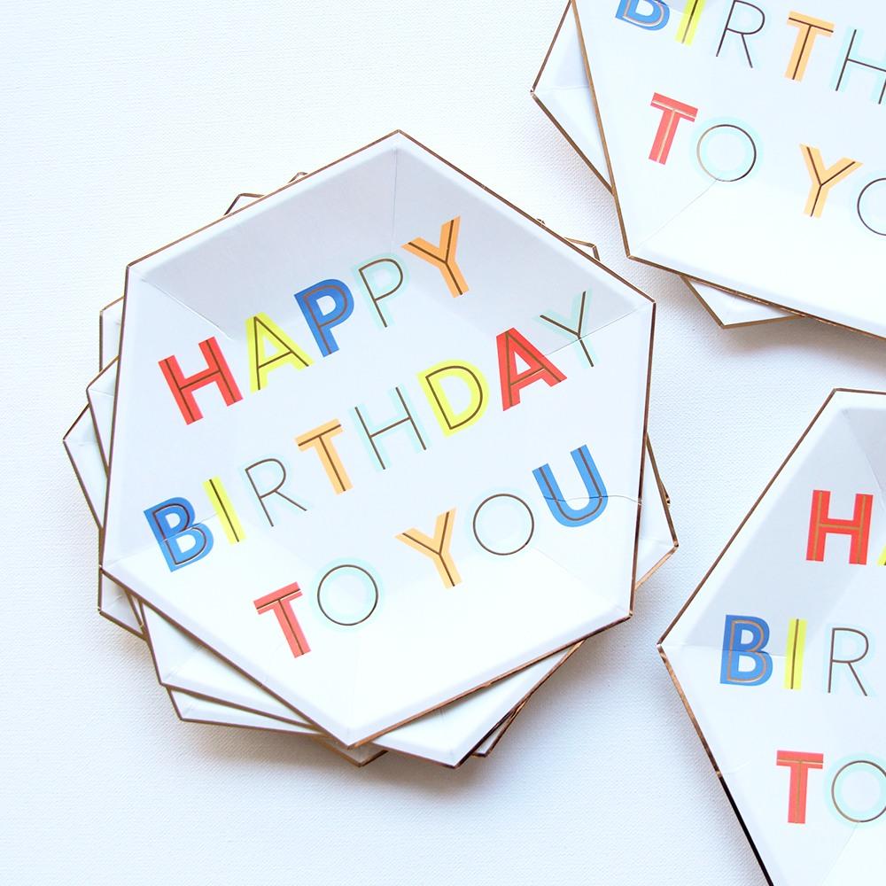 Neon Birthday Party Plates