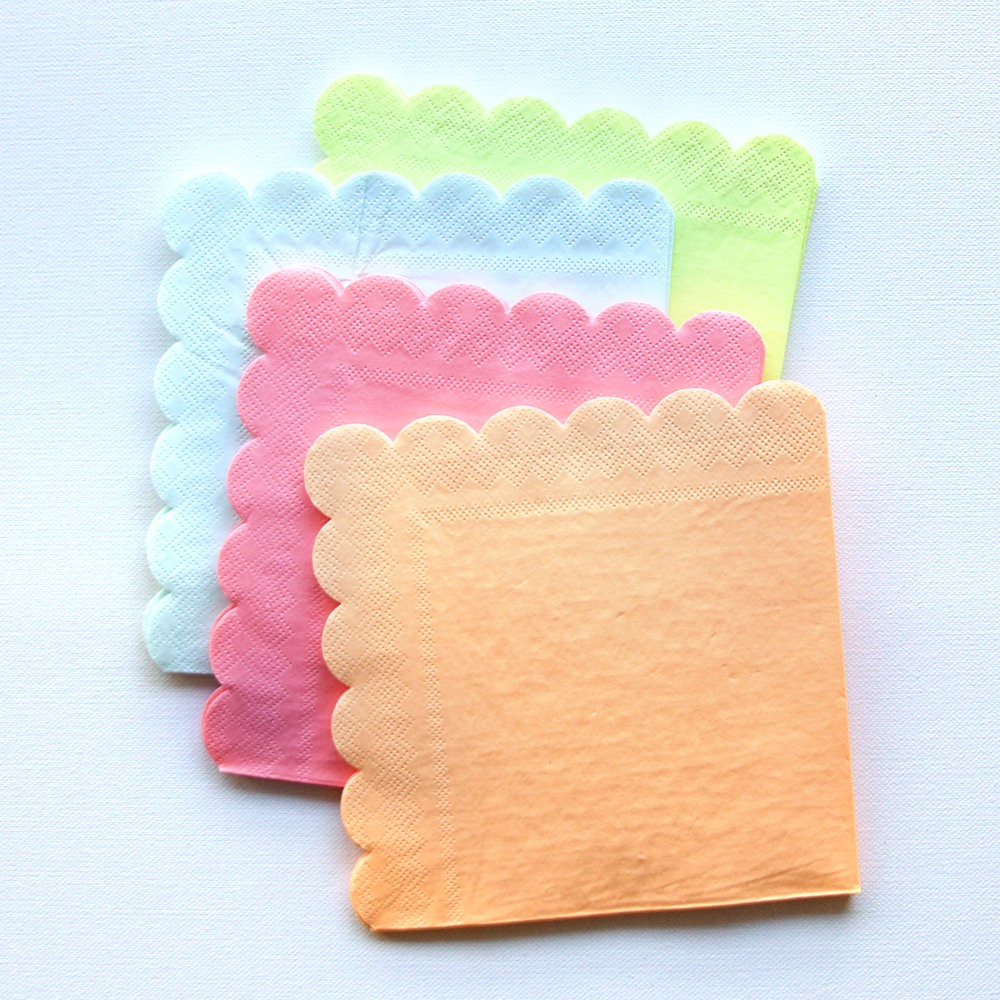 Large Neon Party Napkins