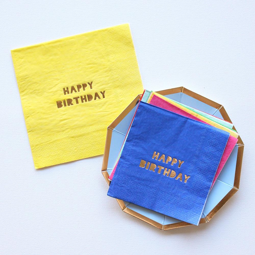 Solid Happy Birthday Napkins 9564