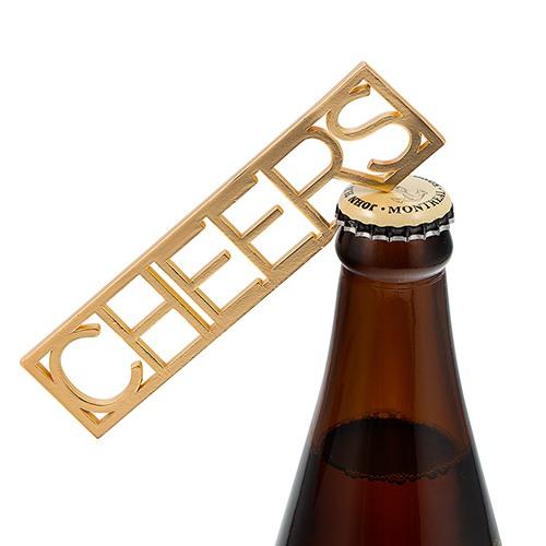 Gold Cheers Bottle Opener 9577