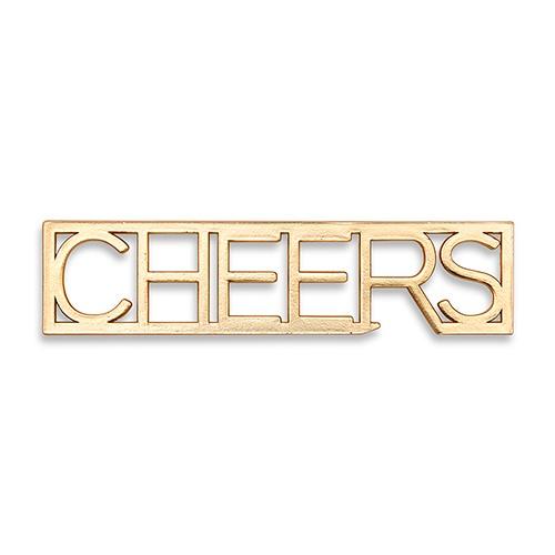 Gold Cheers Bottle Opener