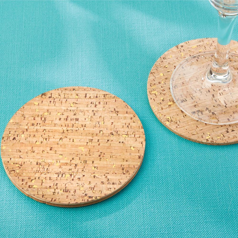 Gold Flecked Cork Coasters