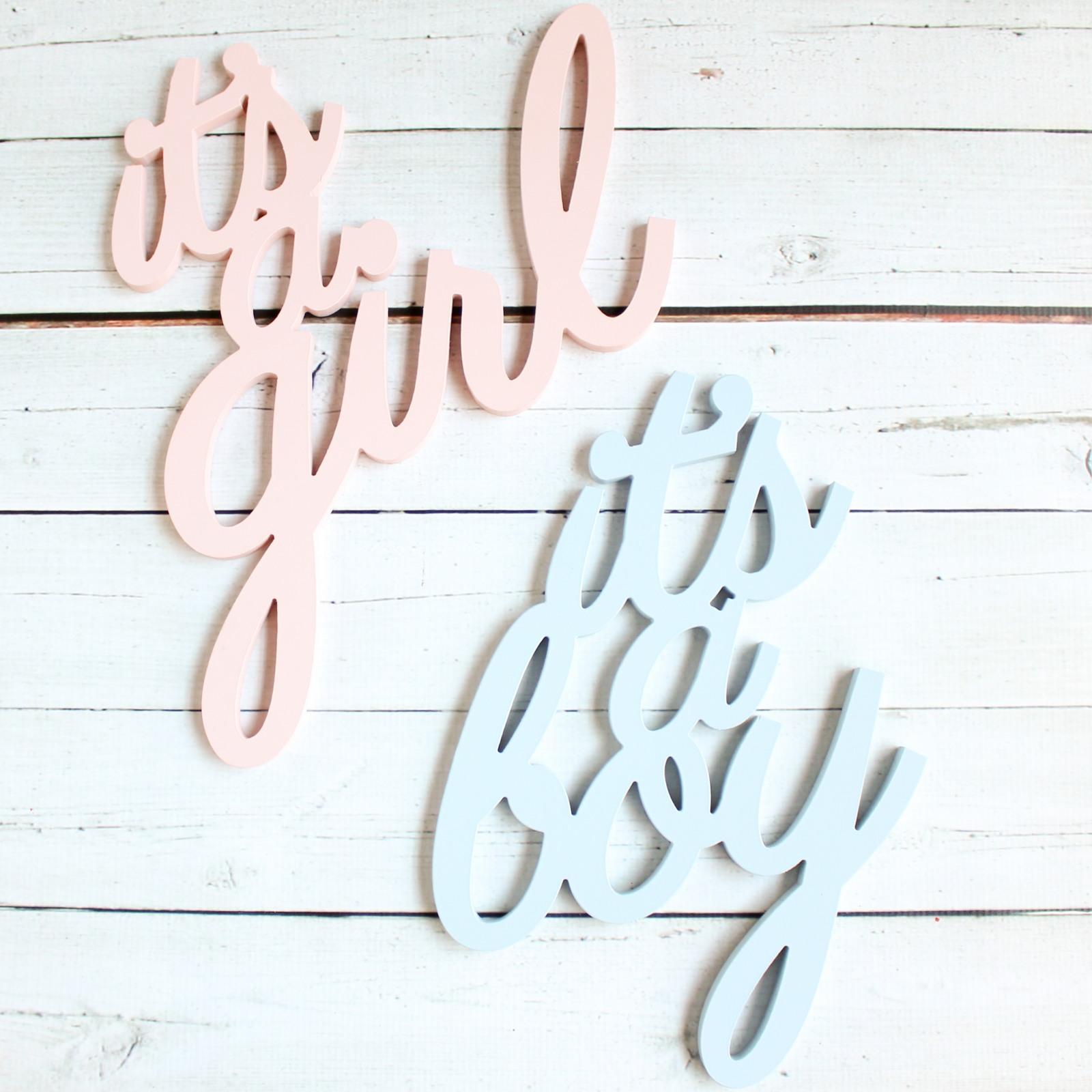It'S A Boy/ It'S A Girl Sign 9676