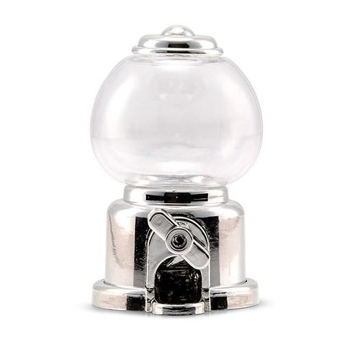 Mini Silver Metallic Gumball Machine Favor