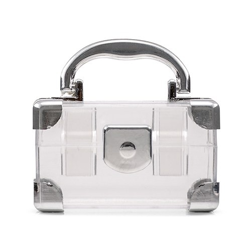 Silver Mini Travel Suitcase Favor