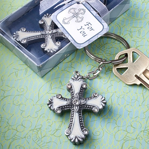Decorative Cross Keychain Favor 9798