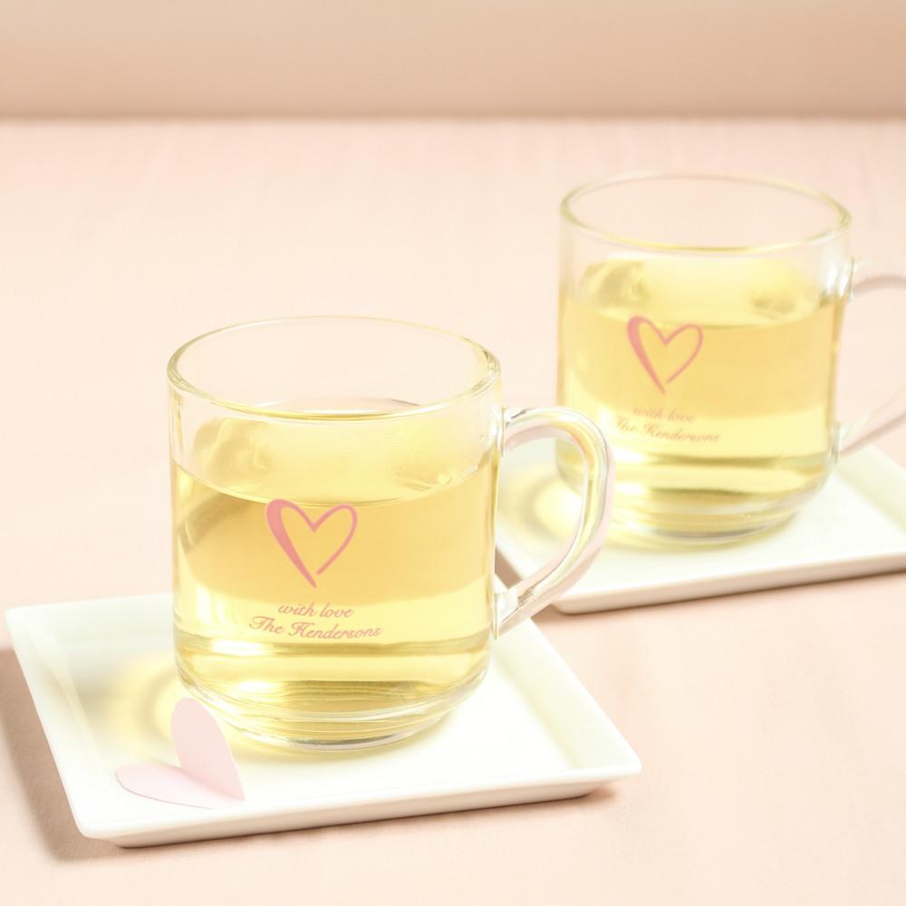Personalized Heart Glass Mug