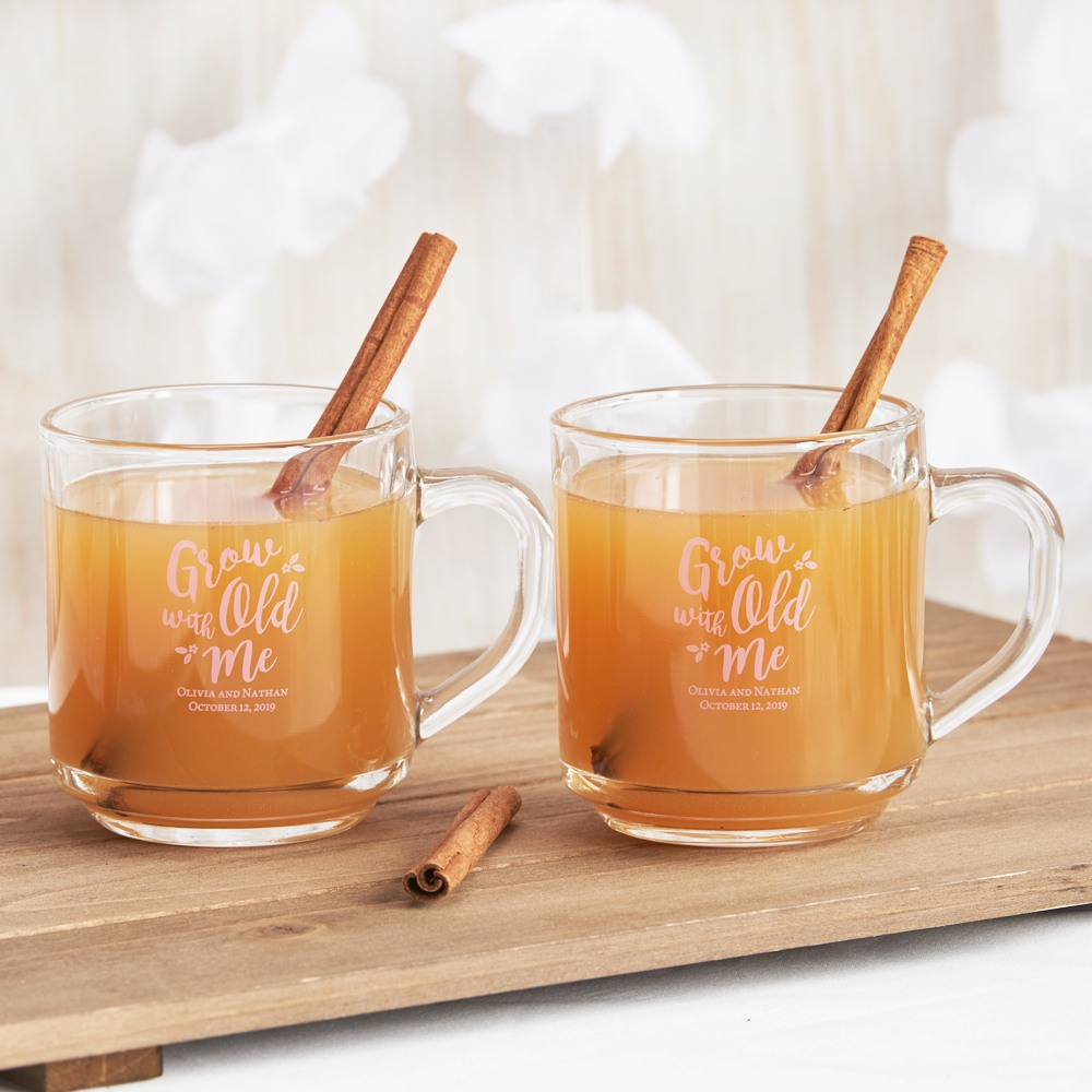 Personalized Grow Old With Me Glass Mug