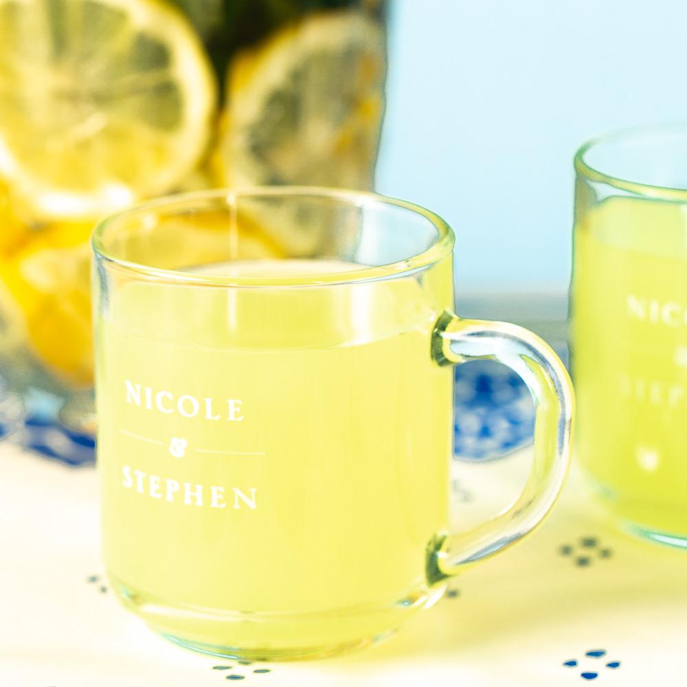 Personalized Citrus Garden Glass Mug