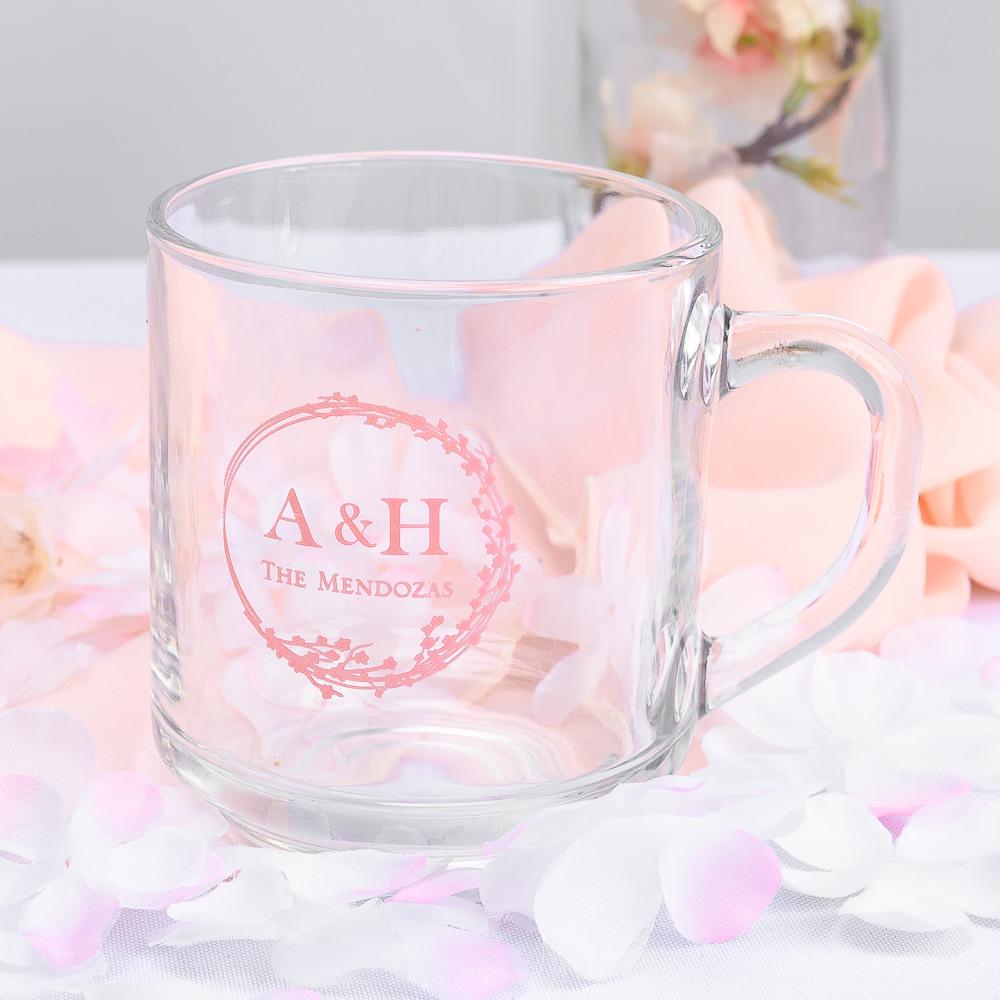 Personalized Cherry Blossom Glass Mug
