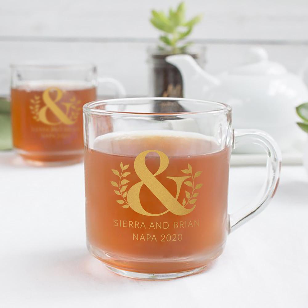 Personalized Eco Ampersand Glass Mug