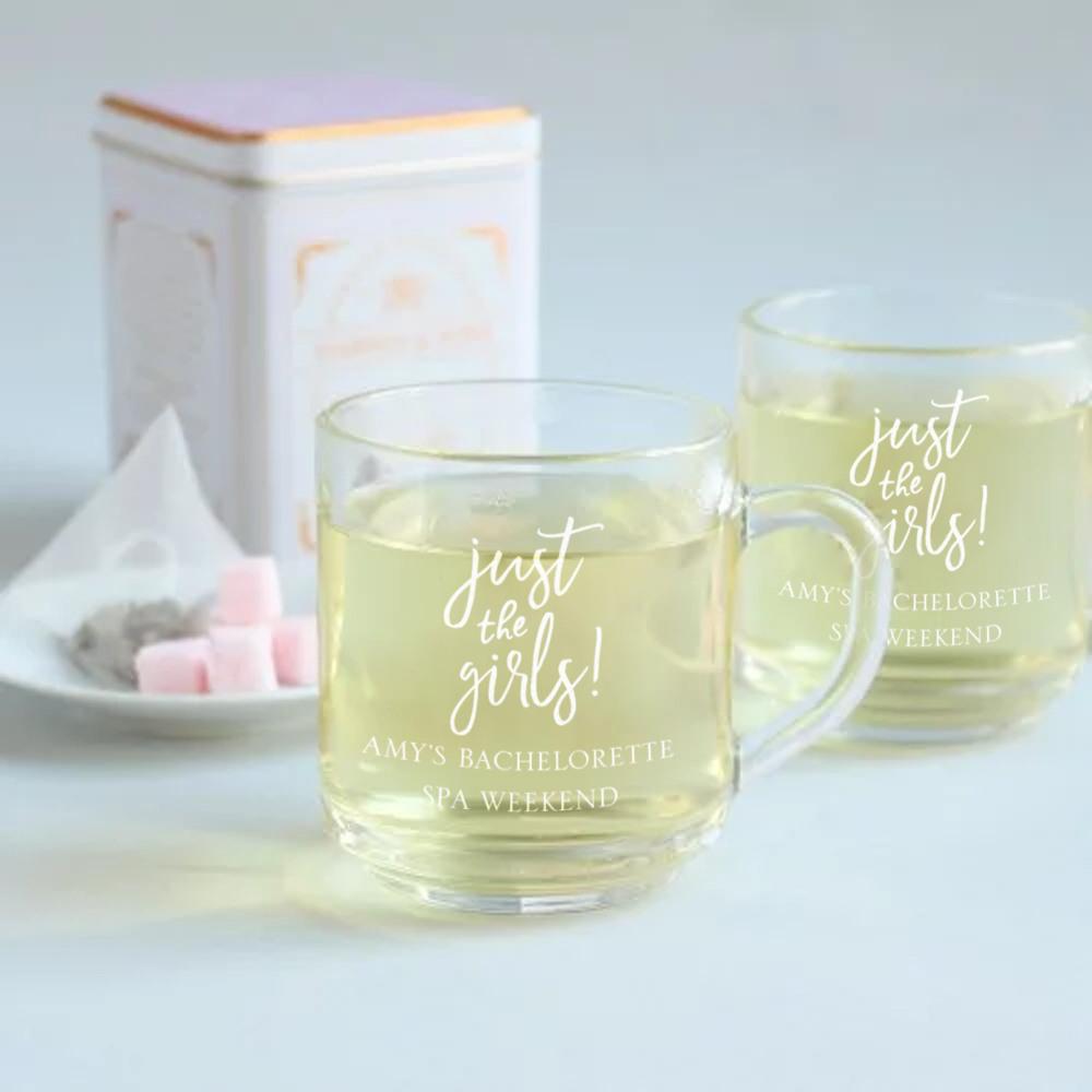 Personalized Just the Girls Glass Mug
