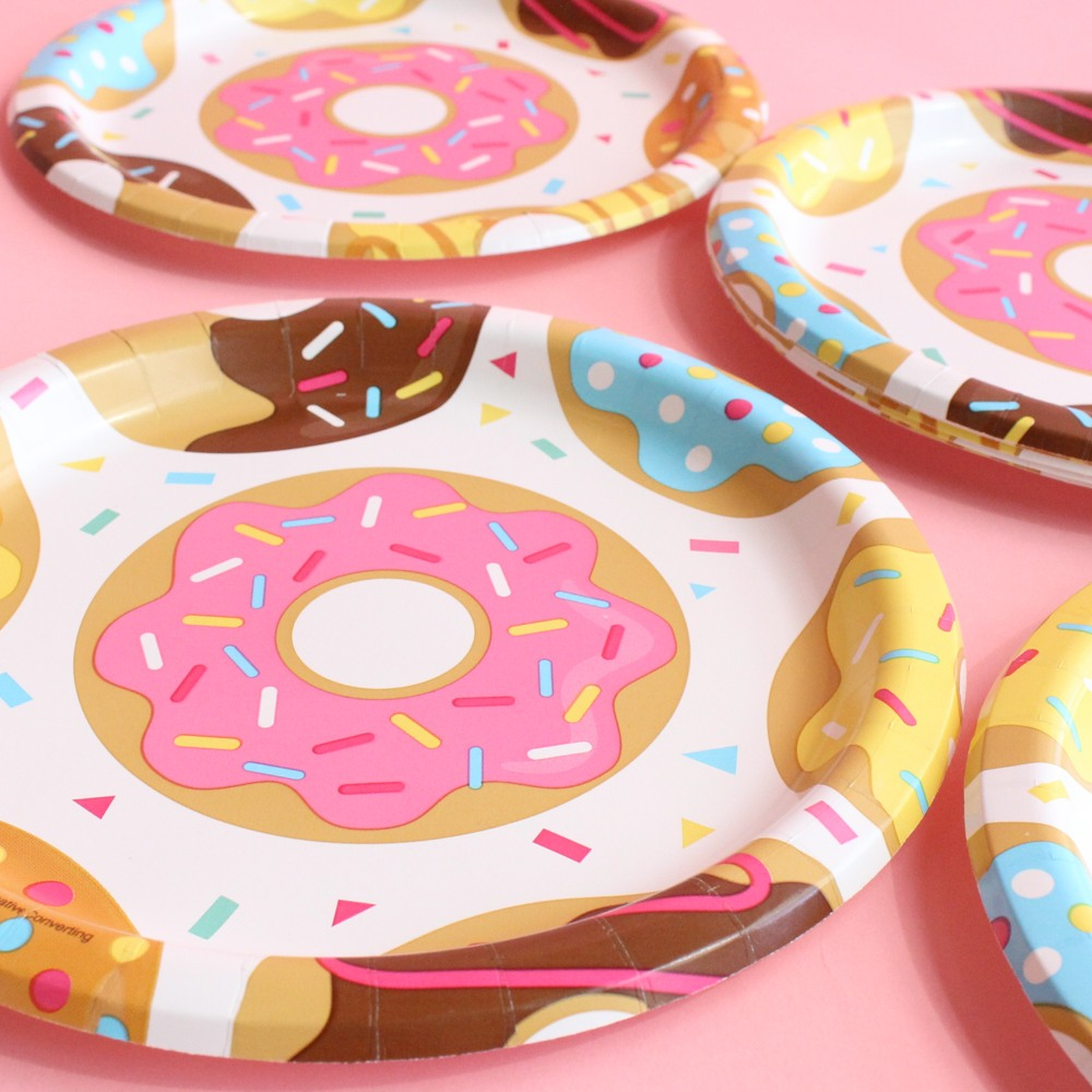 Donut Party Plates 9857
