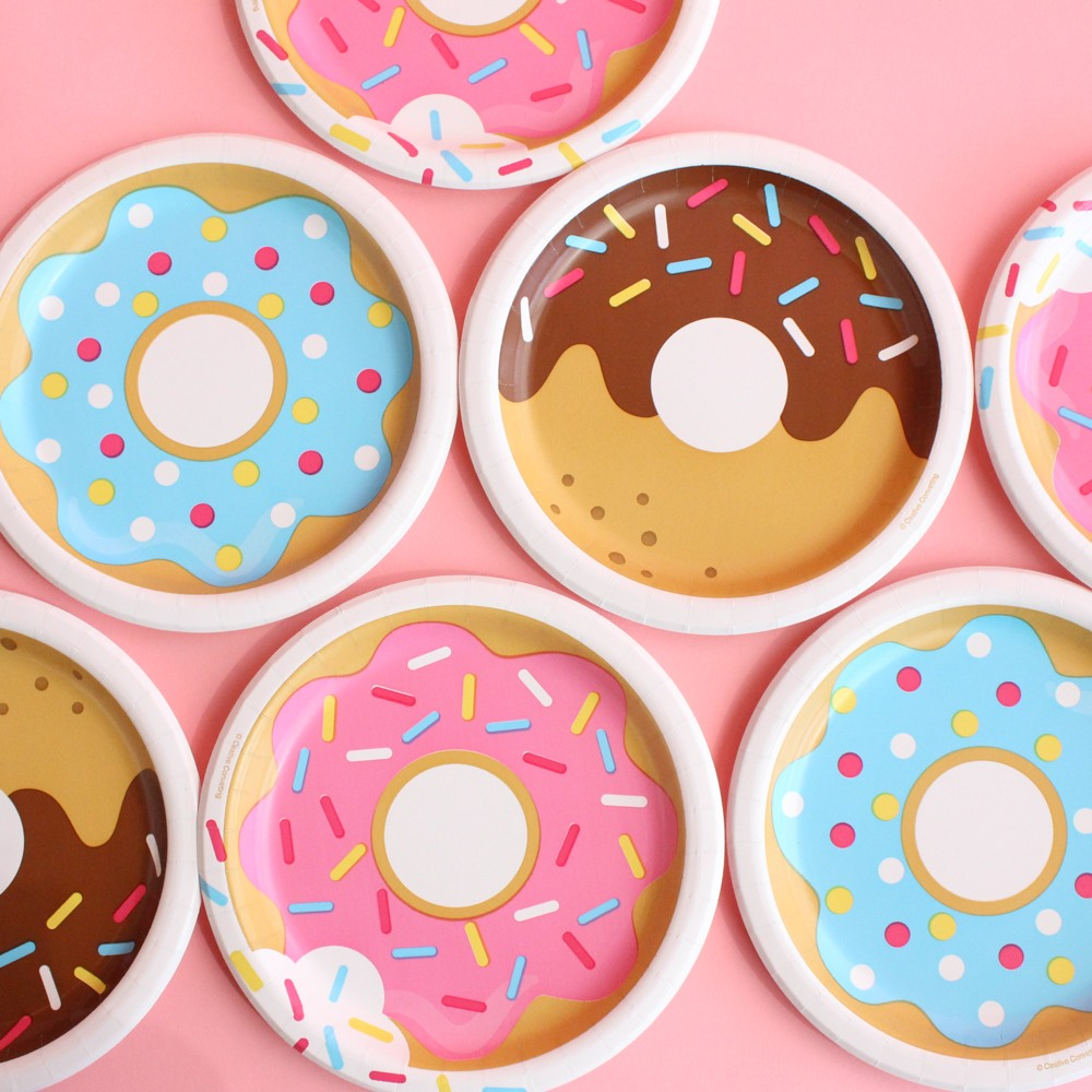 Donut Party Cake Plates 9858