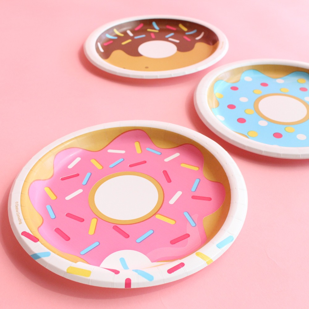 Donut Party Cake Plates QA Refresh