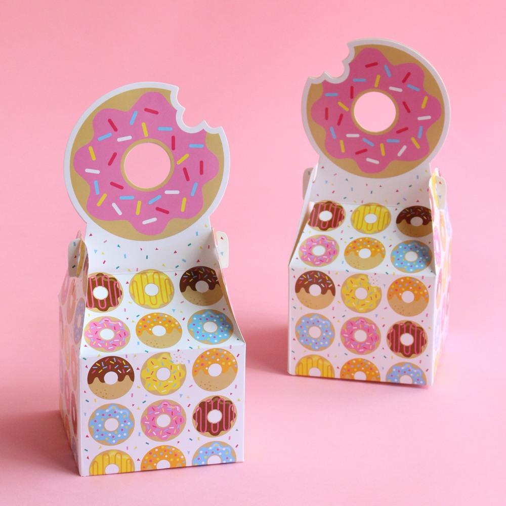 Donut Party Favor Boxes 9862