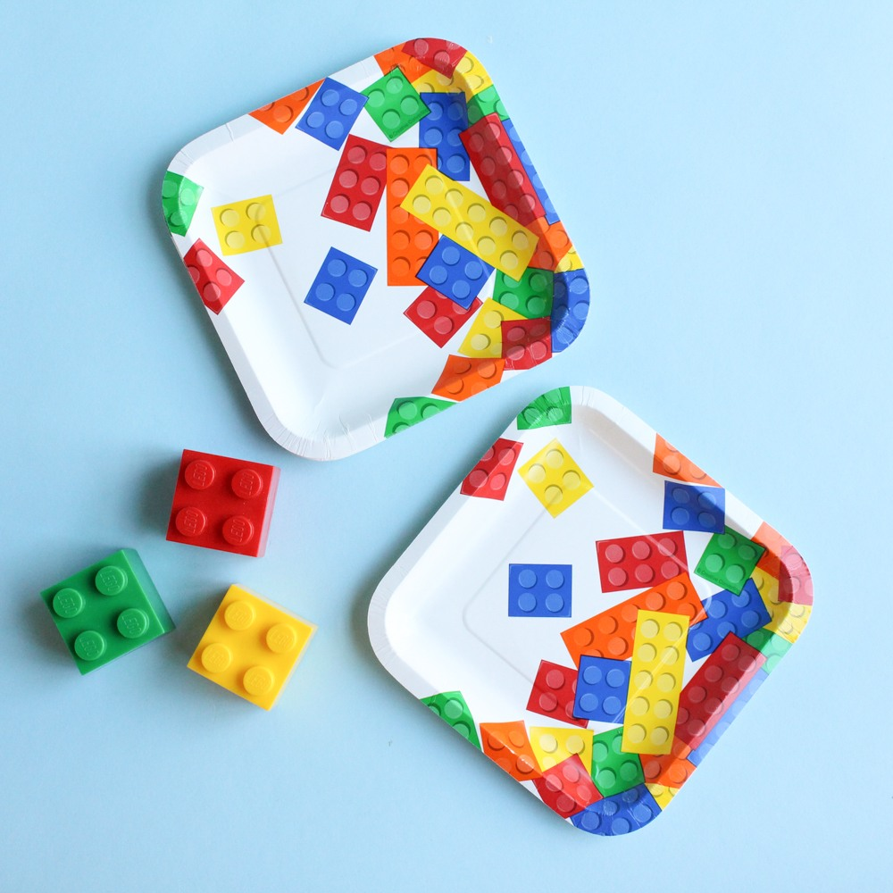 Block Party Cake Plates 9864
