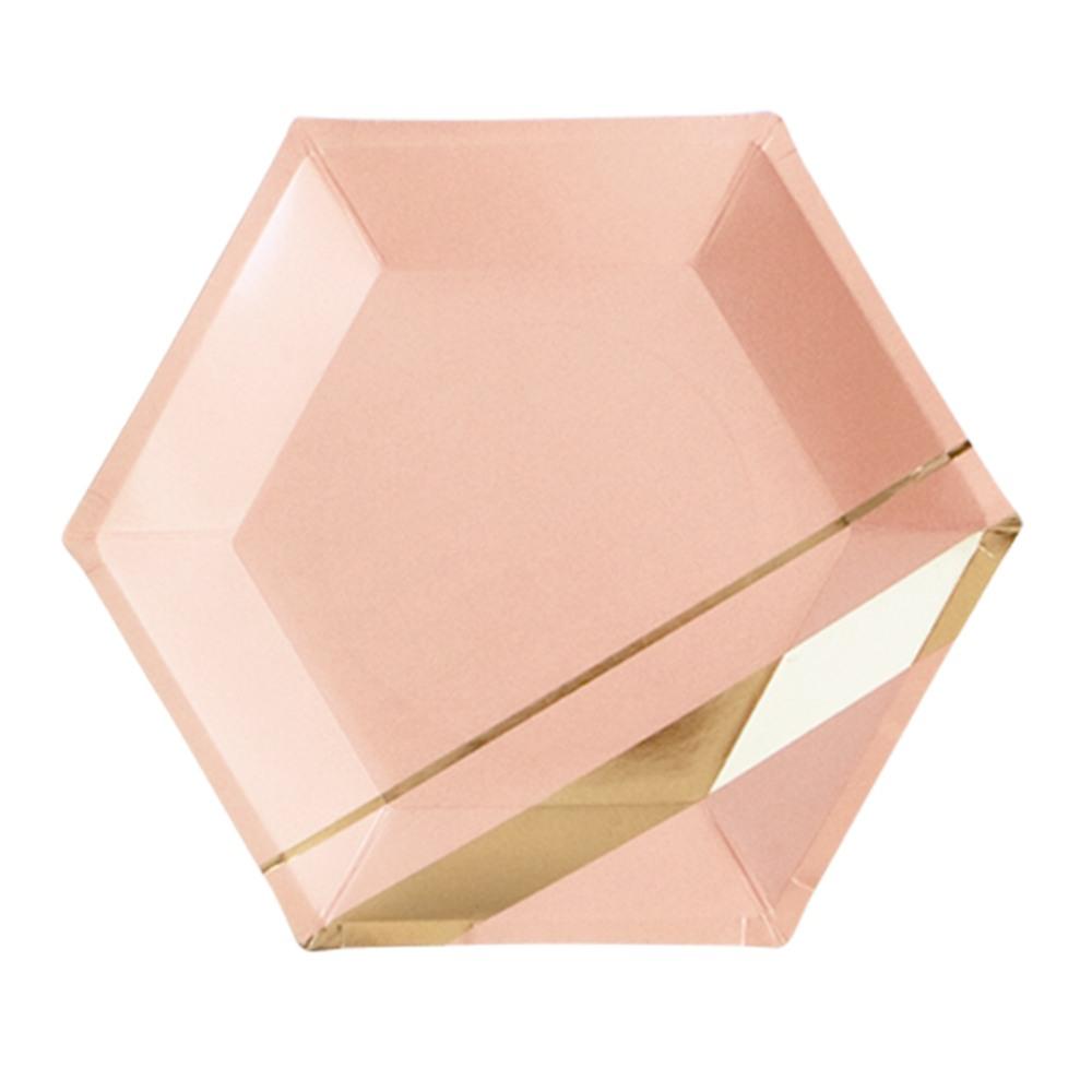 Blush Hexagon Large Plates 9869