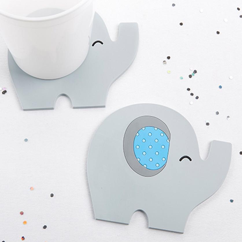 Elephant Baby Shower Coasters 9902