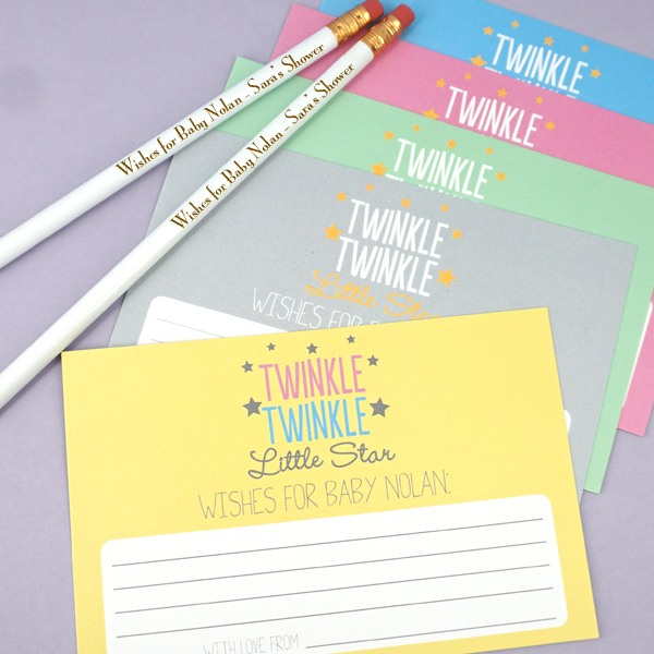 Personalized Twinkle Baby Shower Advice Cards