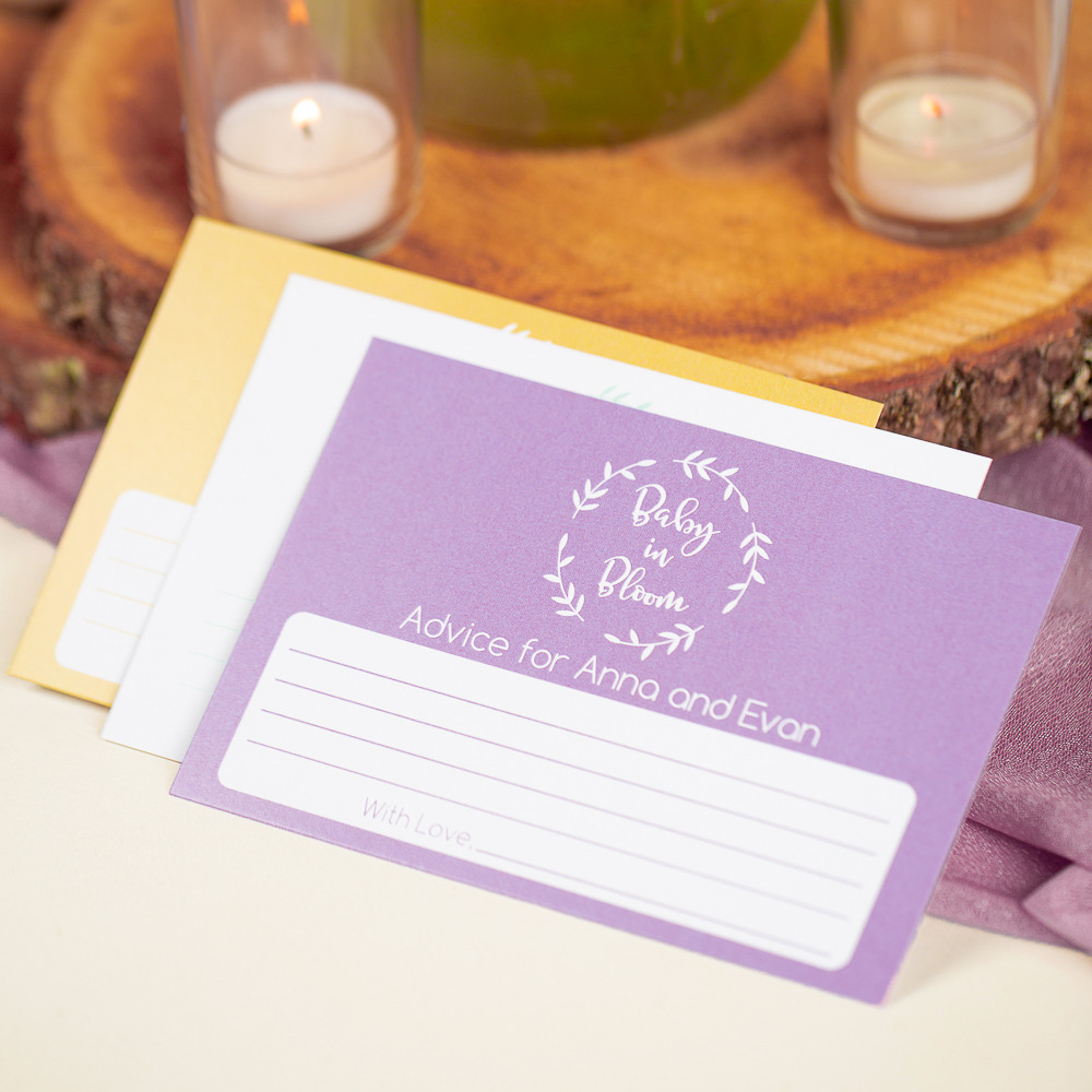 Personalized Baby in Bloom Baby Shower Advice Cards