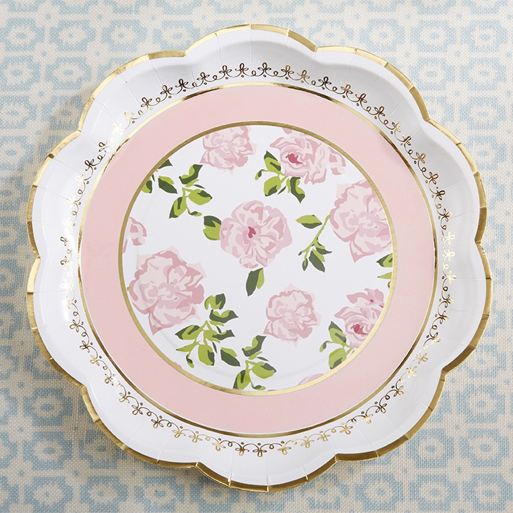 Tea Time Pink Paper Plates