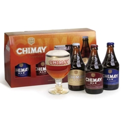 Chimay Trappist Ales Gift Set (3 ales & glass)