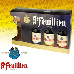 St. Feuillien Abbey Ales Gift Set (3 ales & glass)