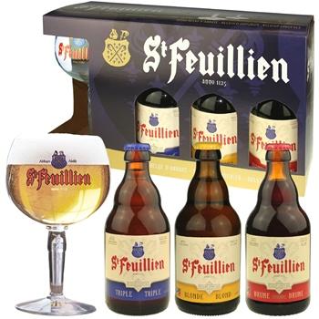 St. Feuillien Abbey Ales Gift Set (3 ales & glass)