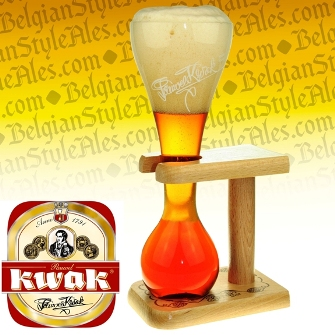 Pauwel Kwak Beer Glass (with wood stand)