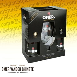 Omer Traditional Blond Gift Set (4 ales & glass)