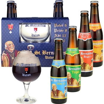 St. Bernardus Abbey Ales Gift Set (4 ales & glass)